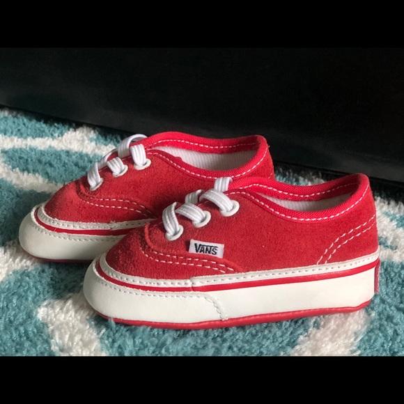 Red Baby Vans Authentic Size 2c   Poshmark